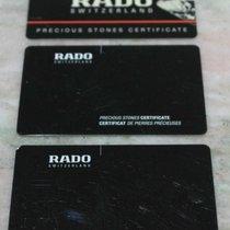 Rado vintage warranty kit card brilly models new never used blanc