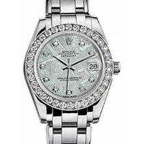 롤렉스 (Rolex) Pearlmaster 34 81299 Meteorite Diamond Bezel White...