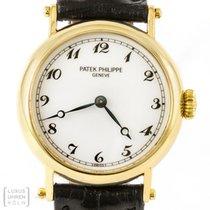 Patek Philippe Uhr Calatrava 750er Gelbgold Damen Ref. 4860j-001