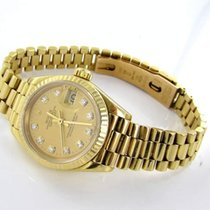 Rolex Datejust Damenuhr 18kt Gold 750er 69178 Diamantenpapiere