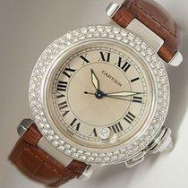 Cartier Pasha de Cartier Uhr  Automatik 18K Weißgold Box/Papieren