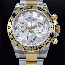 Rolex Daytona 116503 18k Yellow Gold Fact Diamond Mop Dial...
