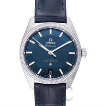 Omega Constellation Globemaster Blue Steel/Leather 39mm -...