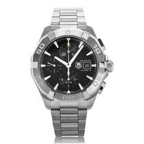 TAG Heuer Aquaracer 300m Steel Black Dial Mens Chronograph...