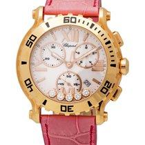 Chopard 18K Rose Gold Happy Sport Quartz Chronograph Ladies...
