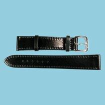 Nomos Shell Cordovan Lederband schwarz, Größe M, 18mm -NEU-