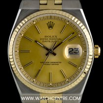 Rolex S/S & 14k Y/G Rare Automatic Datejust B&P 1630