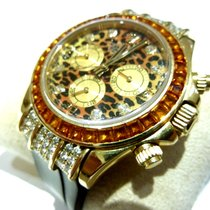 Rolex Daytona Cosmograph Zenith Saco Leopard Gelbgold Brillanten