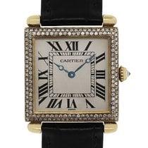 Cartier Tank Obus 1630 Diamond 18k  Gold Leather Watch