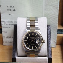 Rolex Datejust 16013 18K Yellow Gold & Steel Black Index Dial