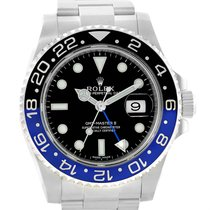 ロレックス (Rolex) Gmt Master Ii Batman Blue Black Bezel Mens Watch...