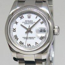 Rolex Datejust Stainless Steel White Roman Dial Ladies Watch...