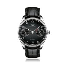 IWC Schaffhausen Portugieser Automatic Black Strap Mens Watch...