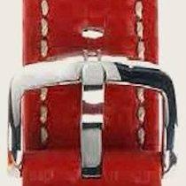 Hirsch Uhrenarmband Leder Carbon rot L 02592020-2-20 20mm