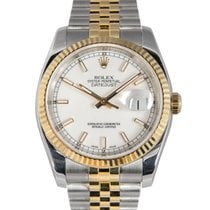 Rolex Gent's Datejust Steel & Gold with White Dial...