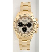 Rolex Daytona 116528 18K Yellow Gold With Ivory Dial W/Black...