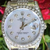 Rolex Watch Ladies 115200 34mm Stainless Steel Date - Diamond...