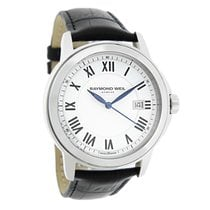 Raymond Weil Traditional Mens White Swiss Quartz Watch...