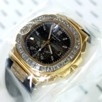 Patek Philippe Nautilus Rose Gold Baguette Diamonds Sealed...