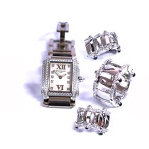 Patek Philippe Twenty~4 Watch Earring and Ring SET