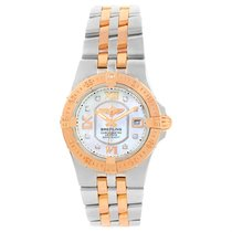 Breitling Galactic 30 Steel Rose Gold Diamond Dial Womens...