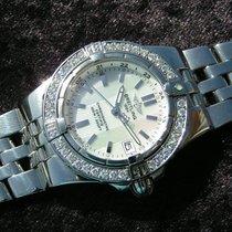 Breitling Starliner A71340 Mop Dial Steel Diamonds Perlmutt