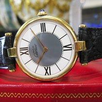 Cartier Must De Cartier Vermeil Gold Sterling Silver Roman...