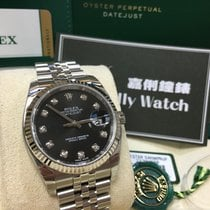Rolex Cally - 116234 Datejust Black Diamond Dial 36mm [NEW]