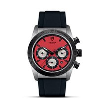 Tudor FASTRIDER CHRONO Automatic Red Dial Date 42010 N