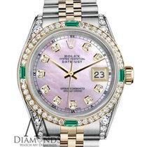 Rolex Ladies Pink Mop Rolex Stainless Steel & 18k Gold...