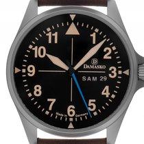 Damasko DB3 Stahl Automatik Armband Leder Limitiert 42mm...