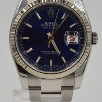 Rolex Datejust 36mm Blue Index Dial Oyster