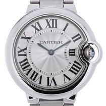 Cartier Ballon Bleu Quartz 33 Silver Guilloche
