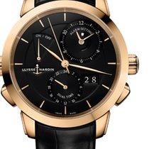 Ulysse Nardin CLASSIC SONATA Pink Gold Dial Black Leather...