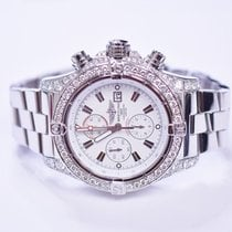 Breitling Super Avenger 48mm Stainless Steel Custom Diamond...