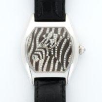 カルティエ (Cartier) White Gold Enamel Diamond Zebra Watch