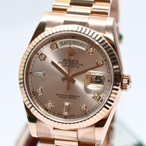 Ρολεξ (Rolex) Rolex Day Date Rose Gold Diamant Blatt Ref.11823...