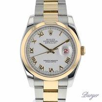 Rolex Datejust 36 Rolesor Oyster White Roman