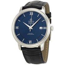 オメガ (Omega) DeVille Prestige Blue Dial Automatic Mens Watch...