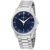 Gucci G-timeless Blue Dial Stainless Steel Ladies Watch Ya126440