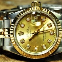 Rolex Lady Datejust 18k Gold / Steel / Diamonds Box Papers