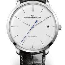Girard Perregaux 1966 41 MM White Gold Dial White Strap Black...