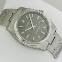 Rolex 114200 Oyster Perpetual Olive Green Dial Stainless Steel...