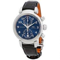IWC Da Vinci chronograph SPORT FOR GOOD FOUNDATION Blue Dial...