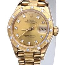 Rolex Oyster Datejust Lady Yellow Gold Bark Diamonds 26 mm (1986)