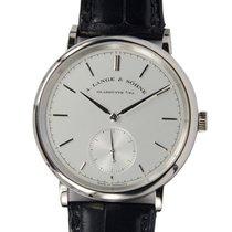 A. Lange & Söhne A Saxonia 18k Platinum Silvery White...