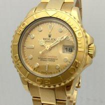 Rolex Ladies Yacht-Master 18K Gold Champagne Dial Ref 69628 Watch