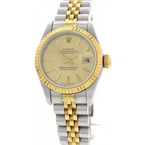 Rolex DateJust Stainless Steel 18K Yellow Gold Watch 69173