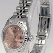 Rolex Ladies Date Stainless Steel Jubilee Bracelet Pink Dial...