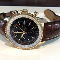 Breitling Navitimer World GMT Yellow Gold Black Dial 46 mm...
